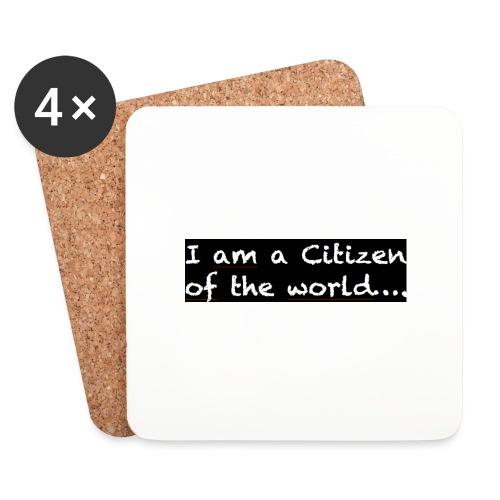 I am a citizen of the world - Underlägg (4-pack)