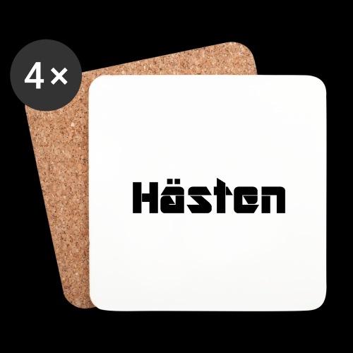 Hästen Vit/Svart - Underlägg (4-pack)
