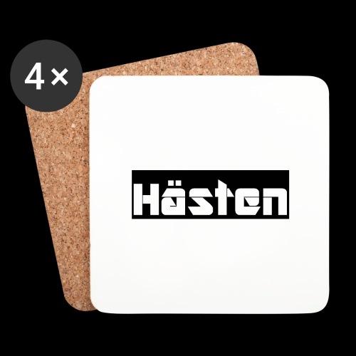 Hästen Svart/Vit - Underlägg (4-pack)