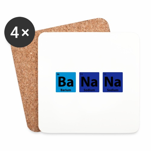 Periodic Table: BaNaNa - Coasters (set of 4)