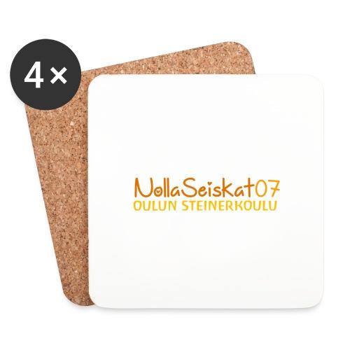07-oulun-steiner-koulu-logo-merkki - Lasinalustat (4 kpl:n setti)