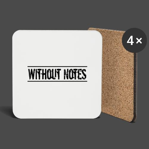 Without Notes Schriftzug Nummer 1 - Untersetzer (4er-Set)