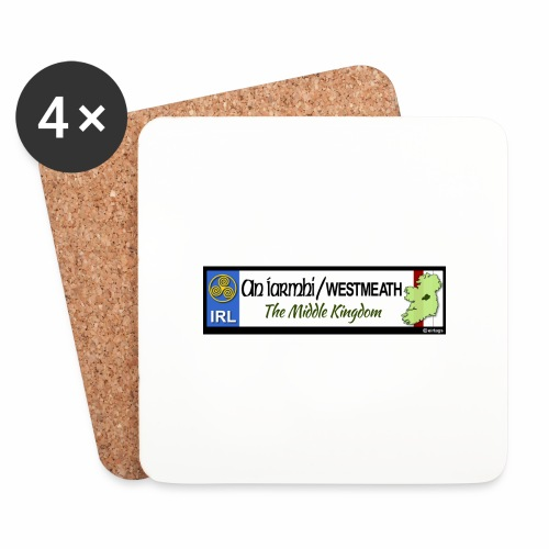 WESTMEATH, IRELAND: licence plate tag style decal - Coasters (set of 4)
