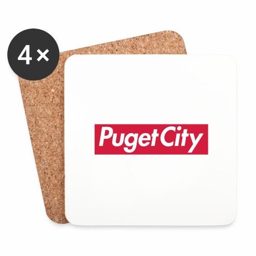 PugetCity - Dessous de verre (lot de 4)