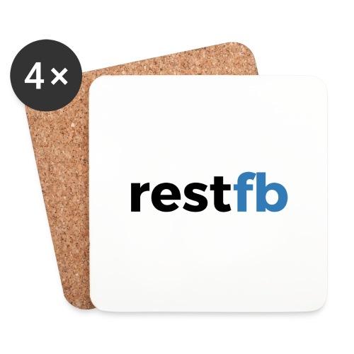 RestFB logo black - Coasters (set of 4)