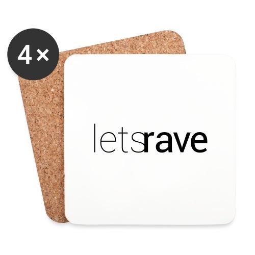 letsrave - Untersetzer (4er-Set)