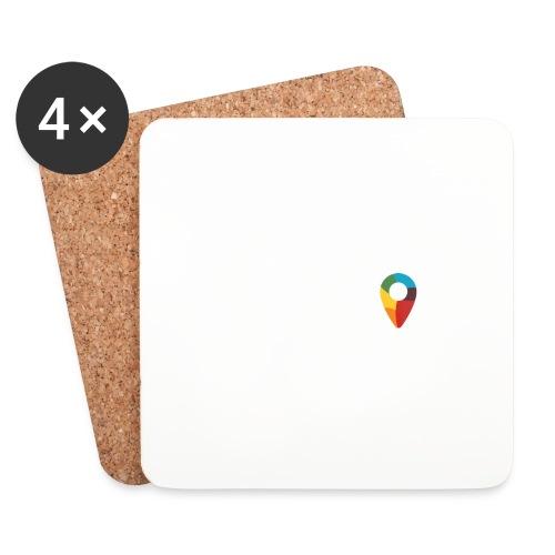 FoundedX logo white png - Coasters (set of 4)