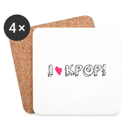 I love kpop! - Untersetzer (4er-Set)