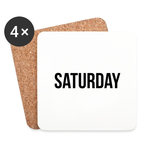 Saturday - Coasters (set of 4)