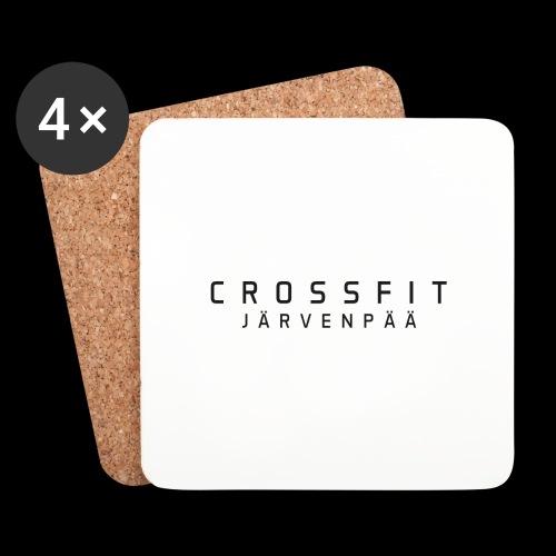 CrossFit Järvenpää mustateksti - Lasinalustat (4 kpl:n setti)