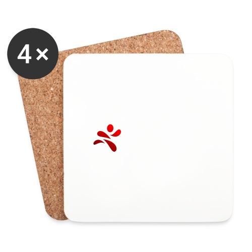 SportsNow-Logo mit weisser Schrift - Untersetzer (4er-Set)
