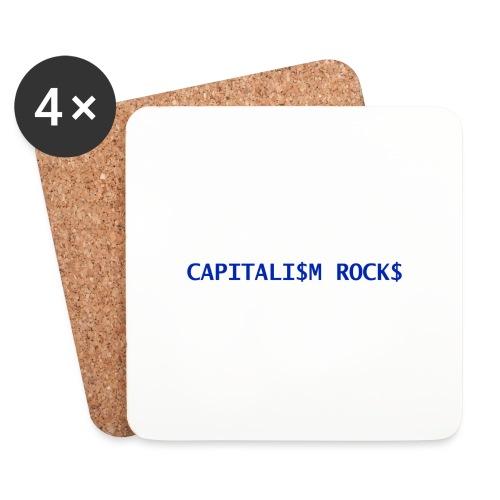 CAPITALISM ROCKS - Sottobicchieri (set da 4 pezzi)