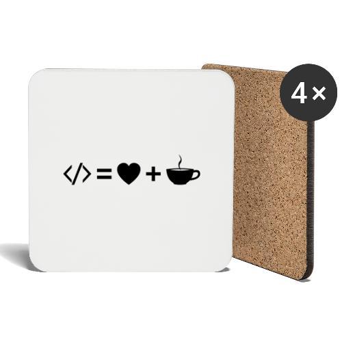 Code Equation - Dark - Coasters (set of 4)