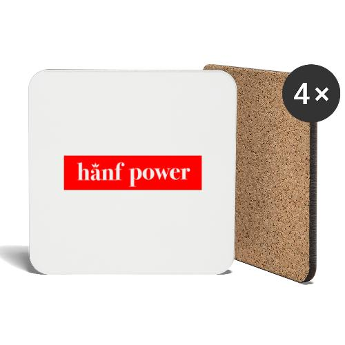 Hanf Power RED - Untersetzer (4er-Set)