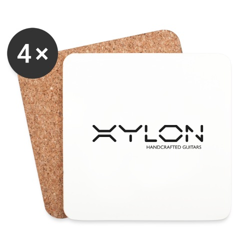 Xylon Handcrafted Guitars (plain logo in black) - Coasters (set of 4)