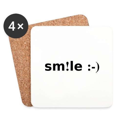 smile - sorridi - Sottobicchieri (set da 4 pezzi)