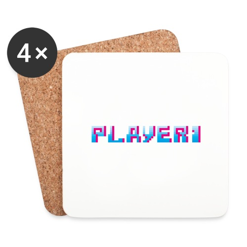 Arcade Game - Player 1 - Coasters (set of 4)