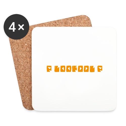 P loofool P - Orange logo - Brikker (sett med 4)