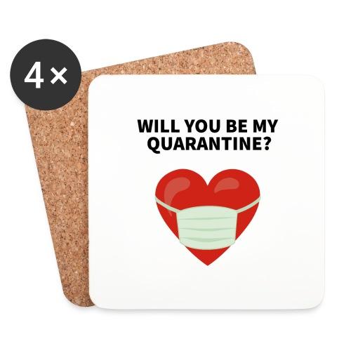 Herz mit Mundschutz und Schriftzug - Untersetzer (4er-Set)