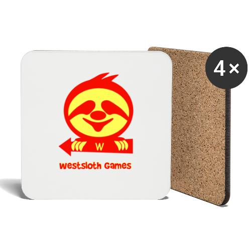 WestSloth Games Logo - Lasinalustat (4 kpl:n setti)