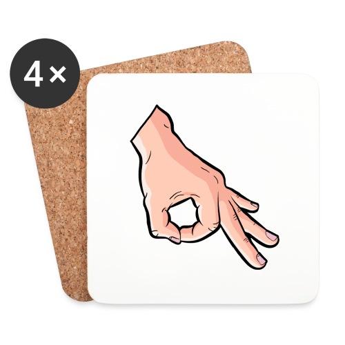 The Circle Game Ok Emoji Meme - Coasters (set of 4)