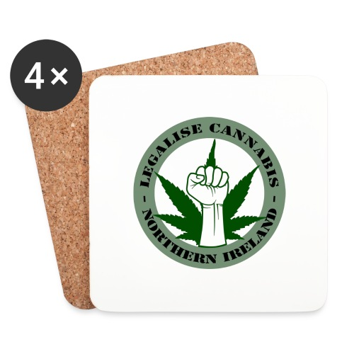 Legalise Cannabis - Northern Ireland - Coasters (set of 4)