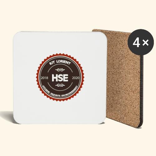 Logo HSE - couleur - Dessous de verre (lot de 4)