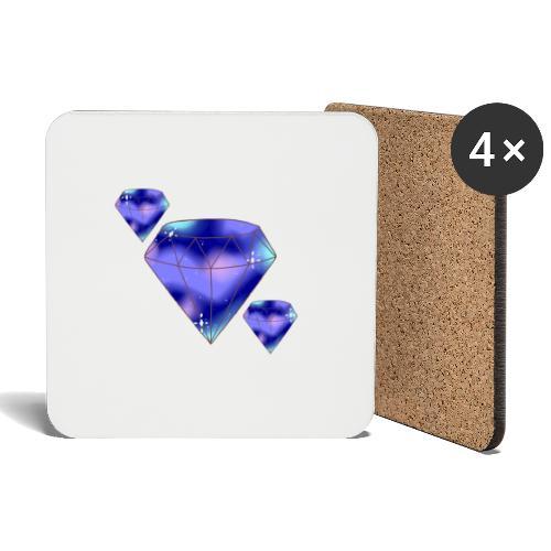 Diamonds - Glasbrikker (sæt med 4 stk.)