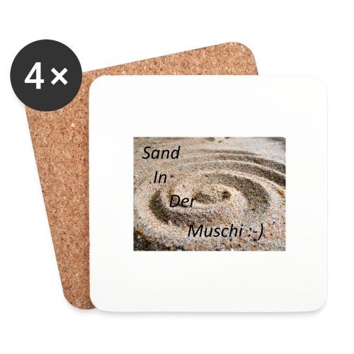 Sand in der Muschi - Untersetzer (4er-Set)