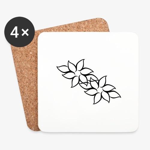 flowers - Glasbrikker (sæt med 4 stk.)