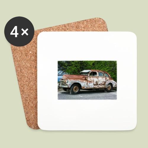 RustyCar - Lasinalustat (4 kpl:n setti)