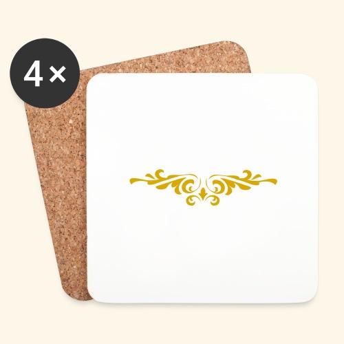 Ilustraccion de un diseño dorado - Posavasos (juego de 4)