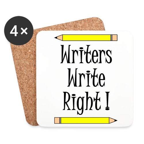 Writers Write Right - Coasters (set of 4)