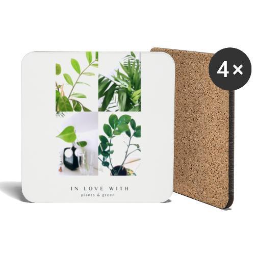 Plants & green - Glasbrikker (sæt med 4 stk.)