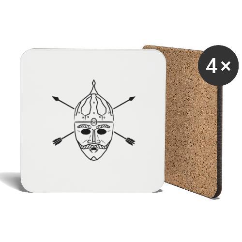 Cuman helmet with arrows - Coasters (set of 4)