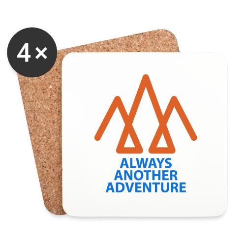 Orange logo, blue text - Coasters (set of 4)