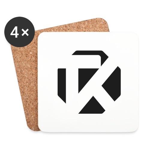 Logo TK Noir - Dessous de verre (lot de 4)