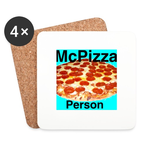 Old McPizzaPerson Logo - Coasters (set of 4)