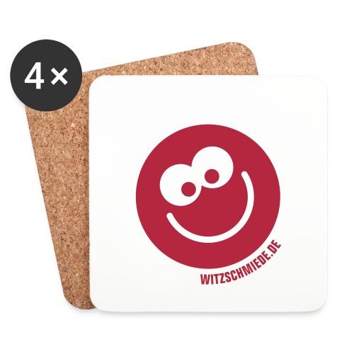 17 1 Witzschmiede Smiley - Untersetzer (4er-Set)