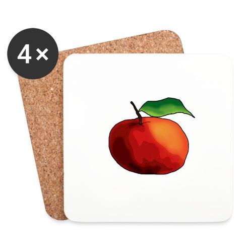 mela-png - Sottobicchieri (set da 4 pezzi)