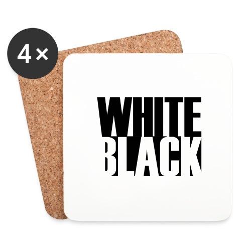 White, Black T-shirt - Onderzetters (4 stuks)
