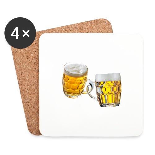 Boccali di birra - Sottobicchieri (set da 4 pezzi)