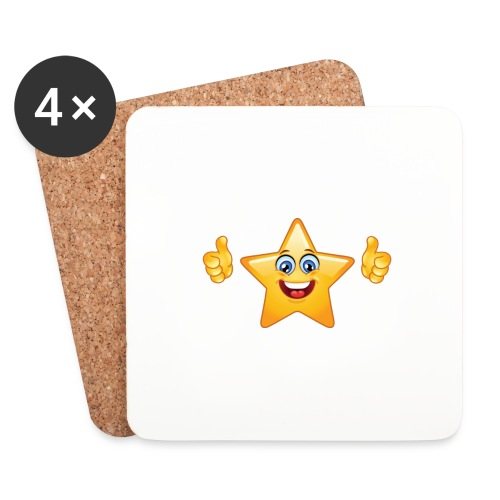star-smiley-234 - Sottobicchieri (set da 4 pezzi)