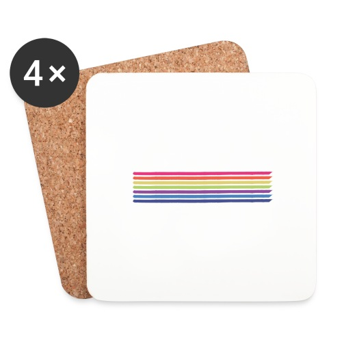 Colored lines - Coasters (set of 4)