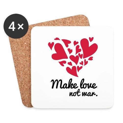 Make Love Not War T-Shirt - Coasters (set of 4)