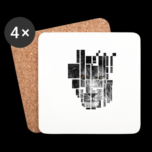 Pixel Lion Tattoo Inspire - Coasters (set of 4)