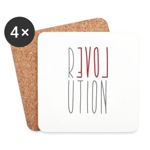 Love Peace Revolution - Liebe Frieden Statement - Untersetzer (4er-Set)