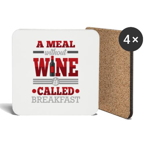 Food requires wine - Funny wine gift idea - Coasters (set of 4)