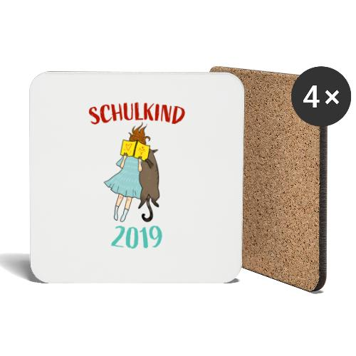 Schulkind 2019 | Einschulung und Schulanfang - Untersetzer (4er-Set)