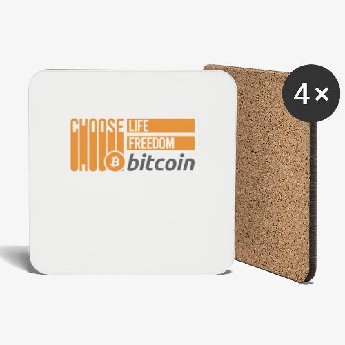 Bitcoin - Dessous de verre (lot de 4)